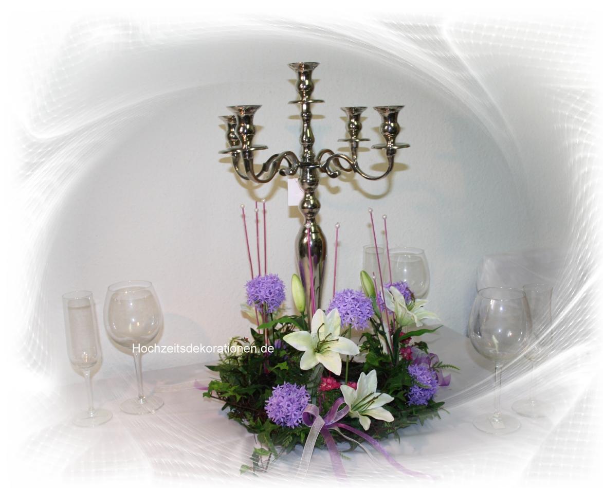 Komplettdeko Lilien gross runde Tische  Tischdekorationen ...
