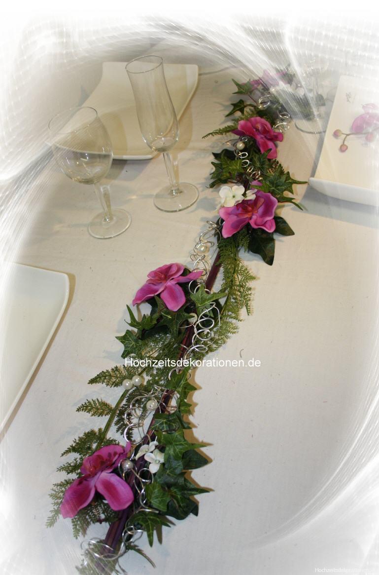 Aufleger orchideen mit silberdraht aufleger orchideen - Tischdeko orchideen ...