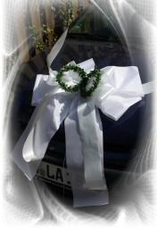 Autoschleife Hochzeit mit Ringen