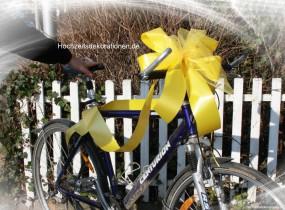 Geschenkschleife Fahrrad Motorrad Roller