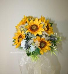 Brautstrauss Sonnenblumen Sommerhochzeit