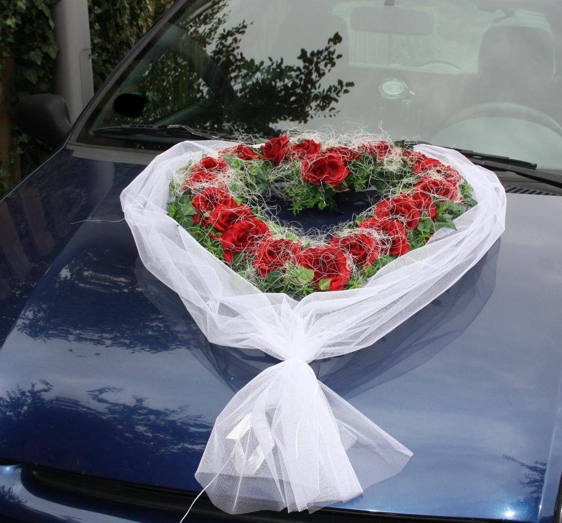 Autoherzen Hochzeit
