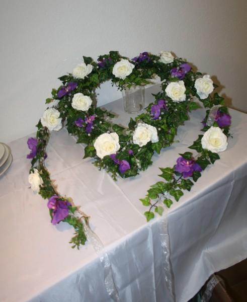 Autoherz Hochzeit Orchideen