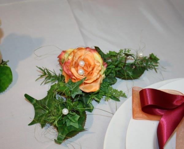 Platzdeko Hochzeit Rose
