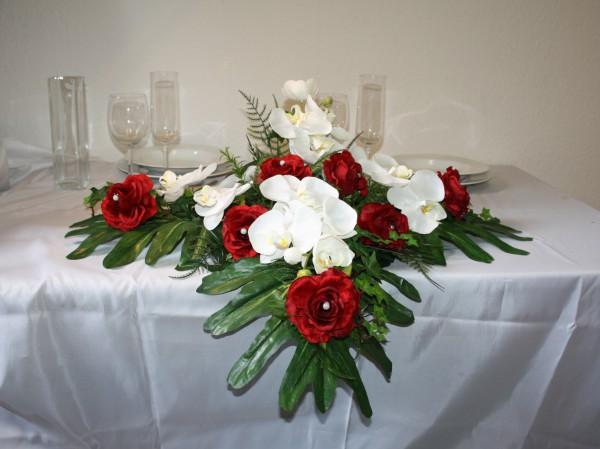 Altargesteck Orchideen Hochzeit