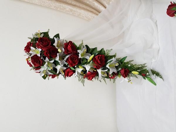 Brautstrauss Lilien und Rosen