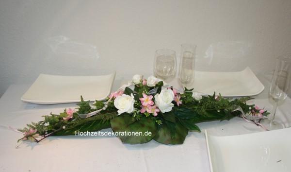 Gesteck hochzeit Blüten mix