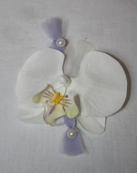 Reversanstecker Orchidee mit tüll