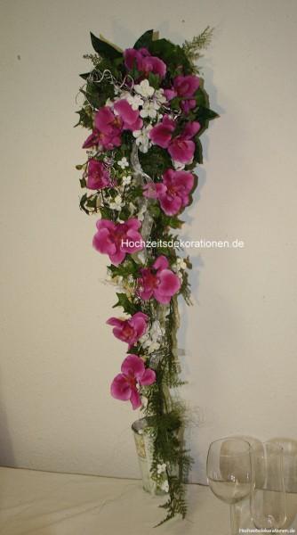 Brautstrauss Orchideen lang