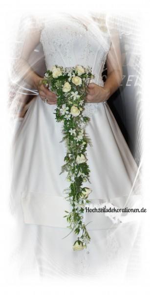 Brautstrauss Brautkorb Wasserfall Hochzeitsdekorationen