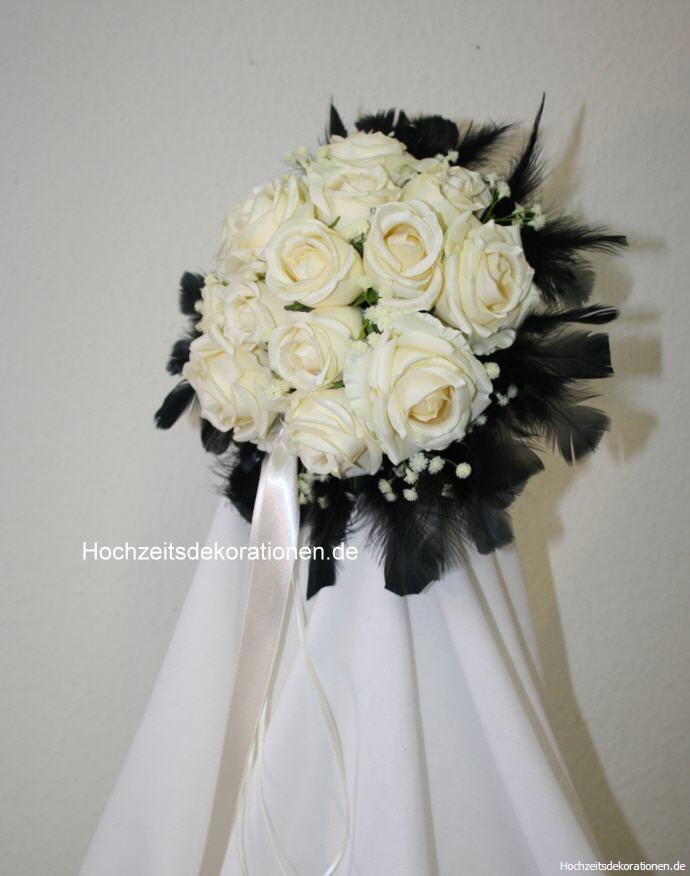 Rosenkugel Federn Gothic Hochzeitsdekorationen