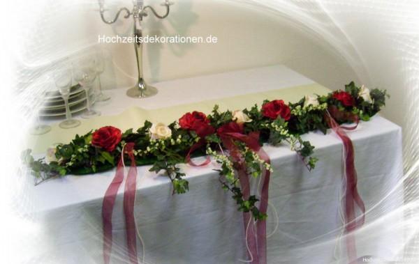 Altargirlande Hochzeit rot weiss