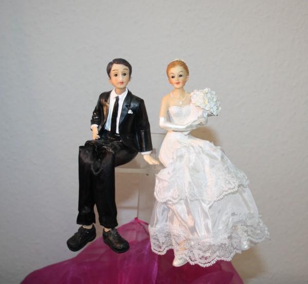 Kuchendeko Brautpaar Kantenhocker