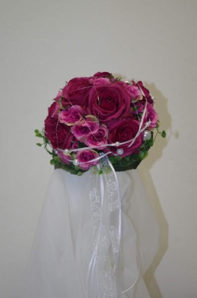 Brautstrauss pink himbeer