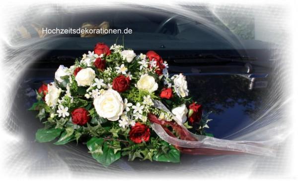 Autoschmuck Hochzeit Bluetenmix