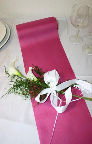 Tischband Pink Hochzeit