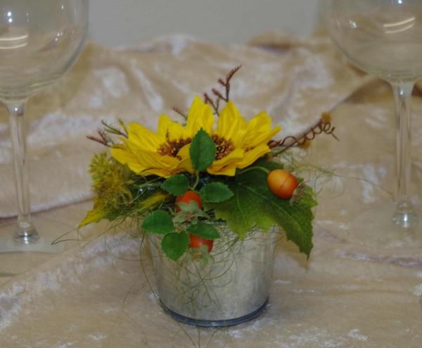 Topf klein Sonnenblumen