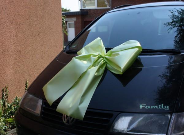 Geschenkschleife gruen auto