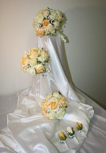 Set Brautsträusse PerlenTraum