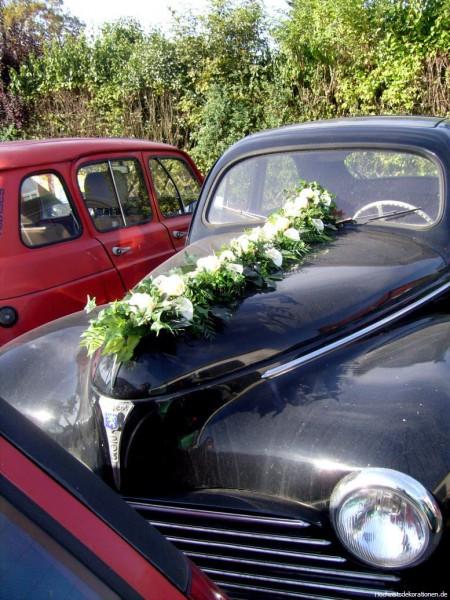 Frontgirlande Hochzeit oldtimer