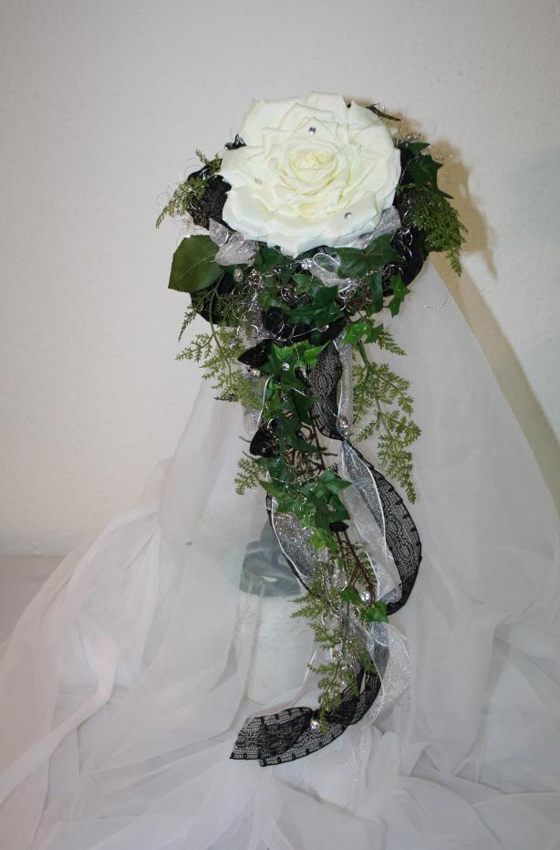 Brautstrauss Schwarzweiss 3 Hochzeitsdekorationen