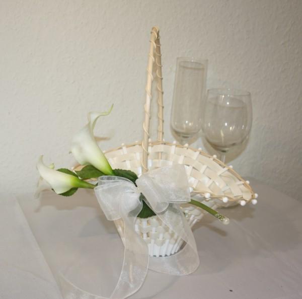 Streukorb Hochzeit calla