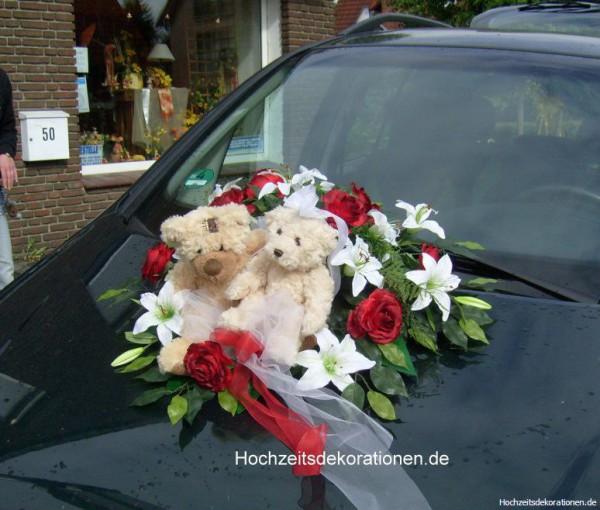 Autoschmuck Bären Hochzeit