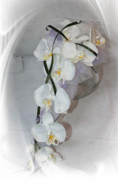 Orchideen mit Tüll flieder
