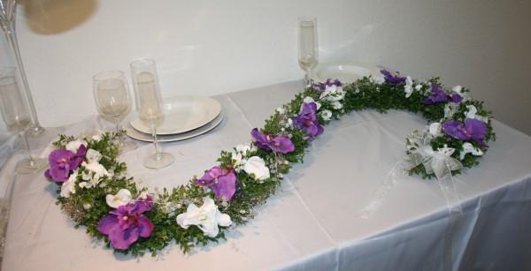Girlande Hochzeit orchieden 2