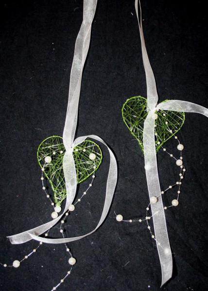 Hochzeitsdeko Herz grün