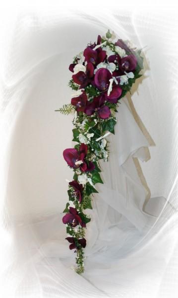 Orchideen brautstrauss lila