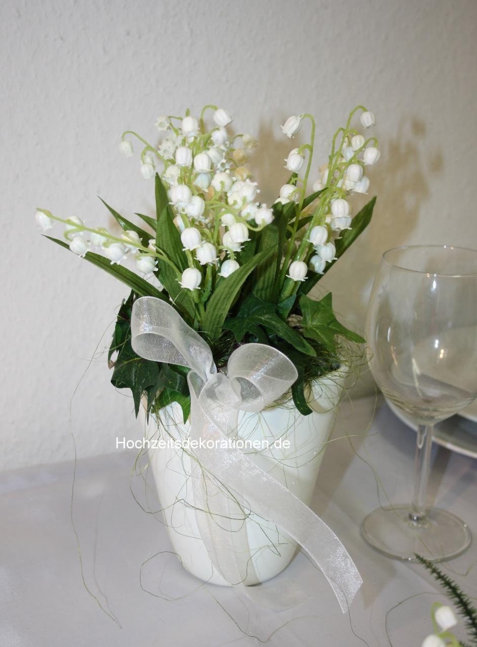 Maigloeckchen im hohen Topf Deko | Hochzeitsdekorationen