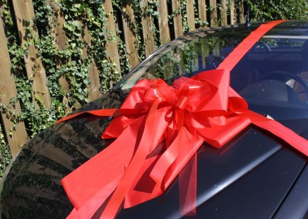 geschenkschleife auto extra