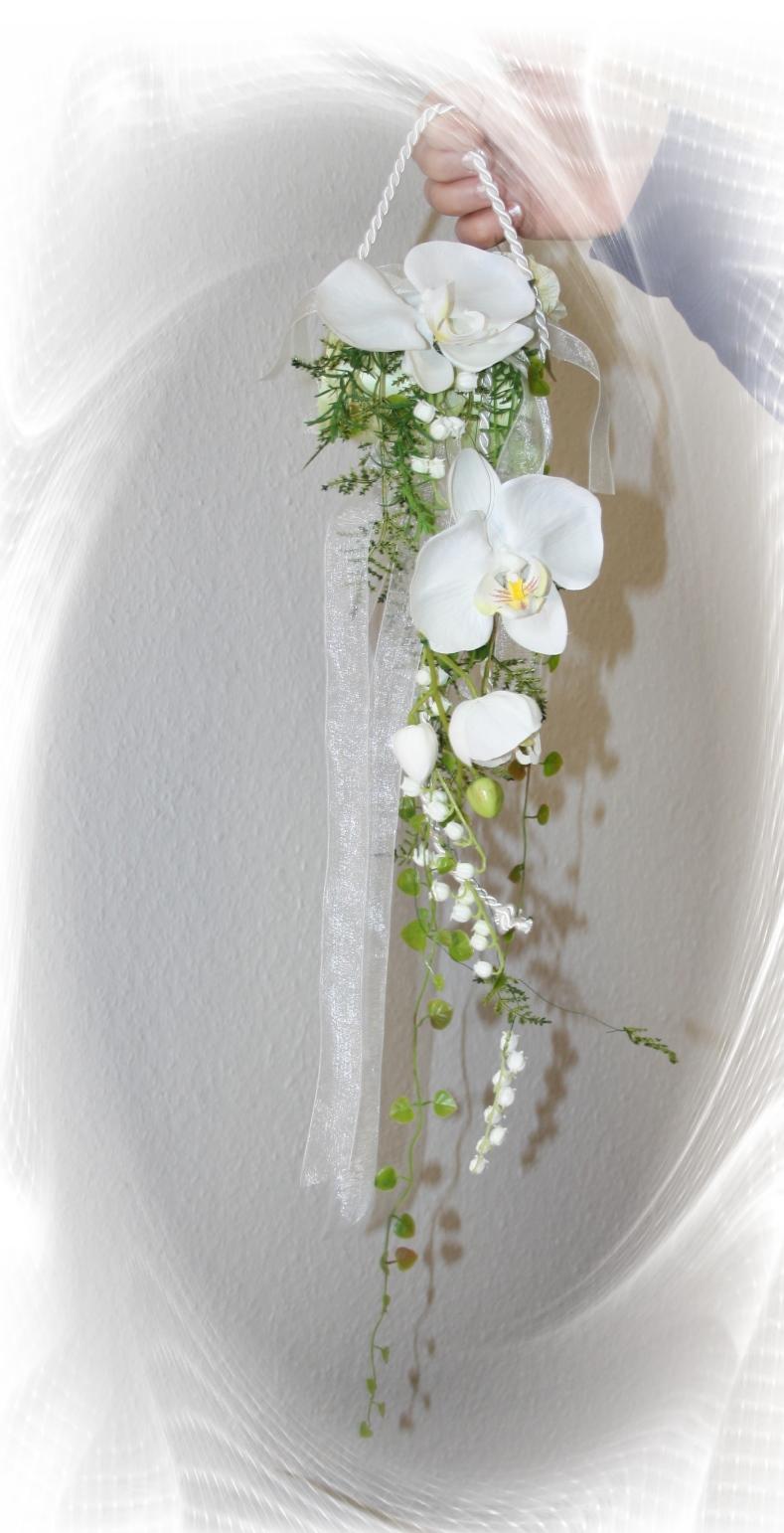 Moderner Orchideenbrautstrauss Hochzeitsdekorationen