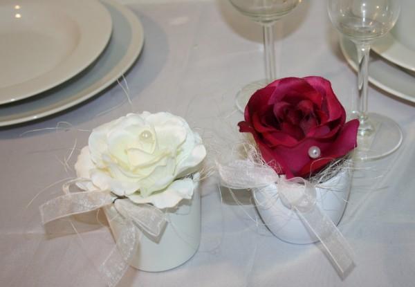 Hochzeitsdeko rosentopf