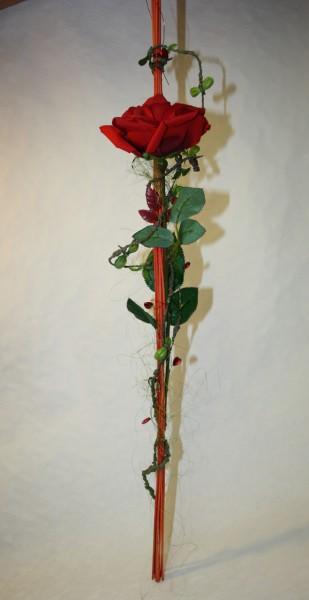 Hängedeko rote Rose