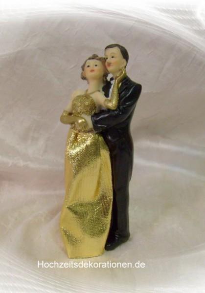 Brautpaar goldene Hochzeit Figur