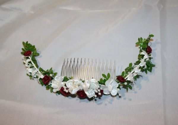Haarschmuck hochzeit Rosen