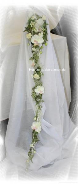 Brautrauss extralang silber