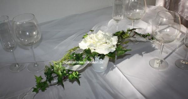 Tischgesteck schwarz weiss Hochzeit | Hochzeitsdekorationen