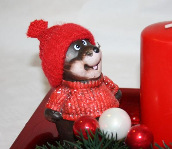 Gesteck maulwurf weihnachten