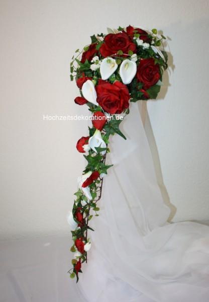 Brautstrauss callas und Rosen