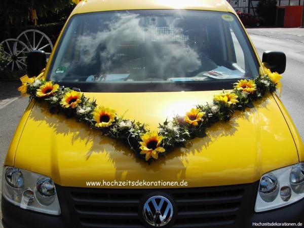 Autoschmuck v Girlande Sonnenblumen