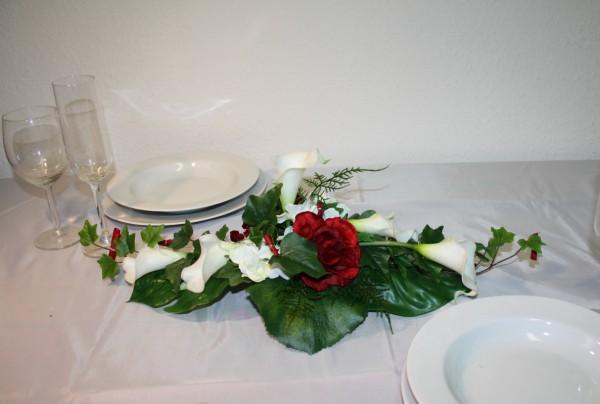 Gesteck Hochzeit calla