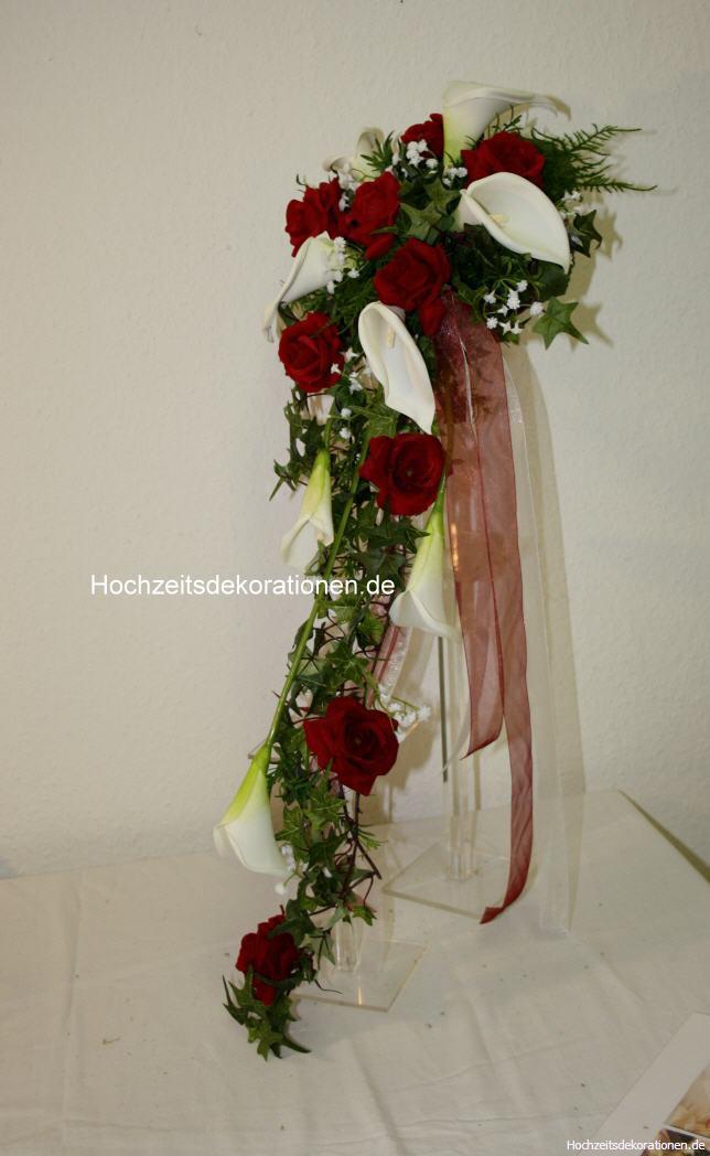 Brautstrauss Wasserfall Callas Gross Hochzeitsdekorationen