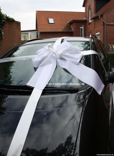 Geschenkschleife auto weiss