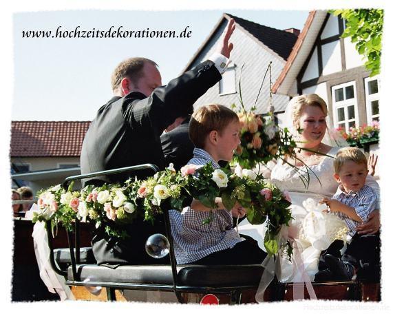 Giralande Hochzeit Kutsche