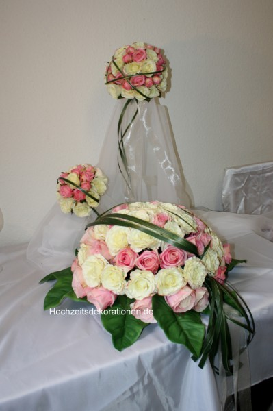 Set Hochzeit Rosenkugeln
