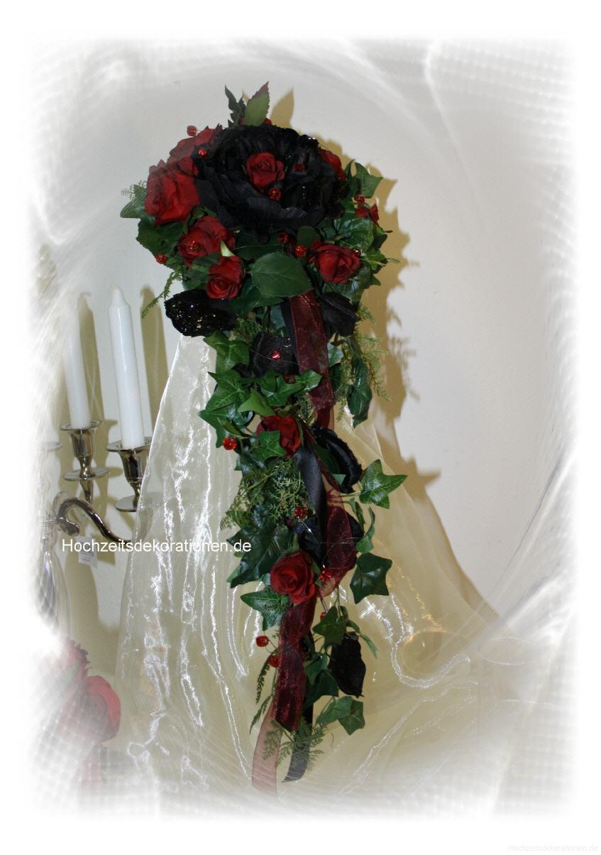 Brautstrauss Wasserfall Gothic Lang Hochzeitsdekorationen