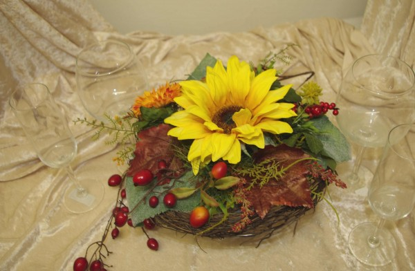 Gesteck Sonnenblumen gross
